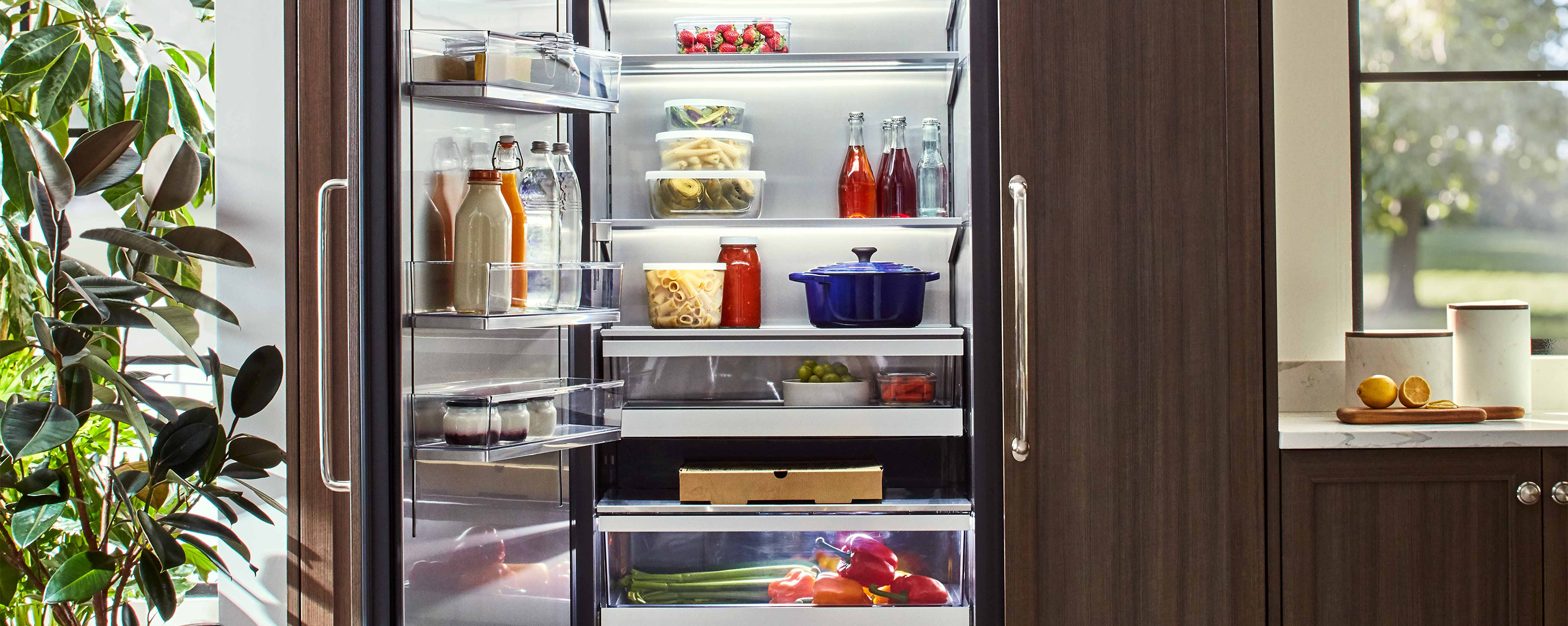 "24"" Column Refrigerator, built-in panel ready / integrated & stainless from Signature Kitchen Suite"