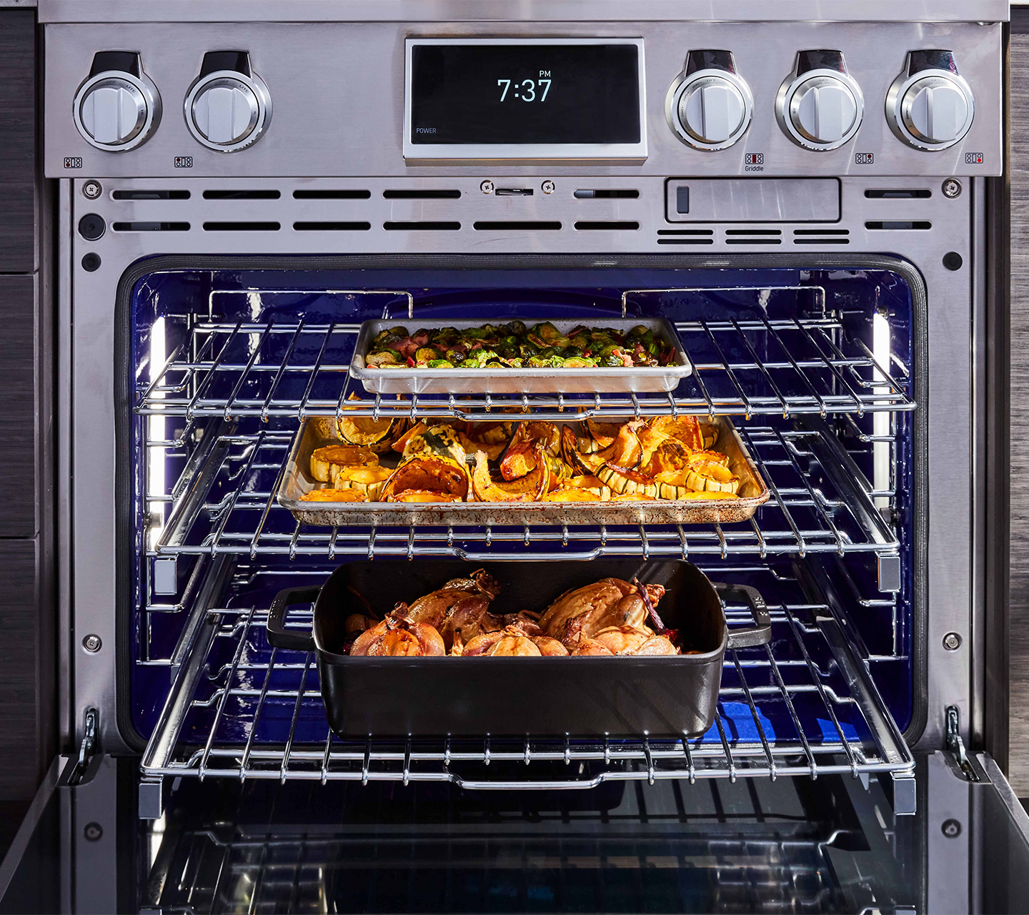 "Steam-Assist Convection Oven for 36"" Dual Fuel Pro Range"