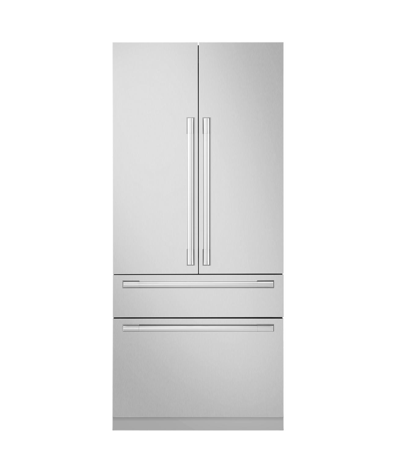 36-inch Built-in French Door Refrigerator Open