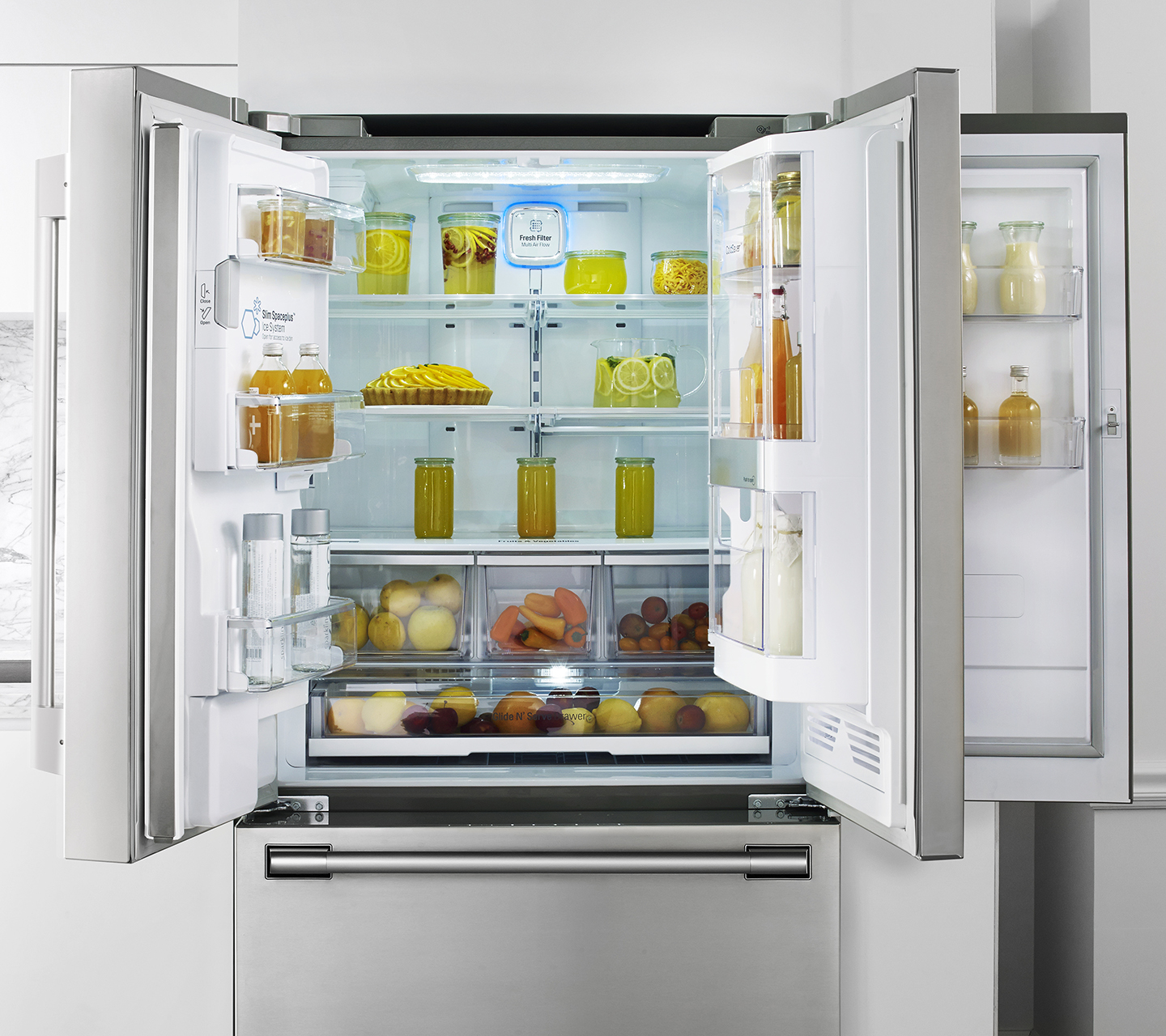 "Door-in-Door on 36"" Counter Depth French Door Refrigerator from Signature Kitchen Suite"