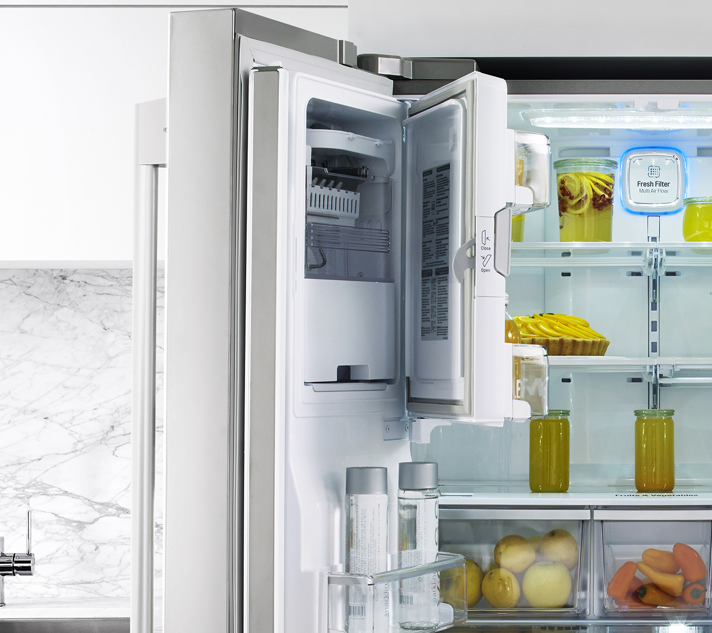 36\  Counter Depth French Door Refrigerator Smartspace System & 36\
