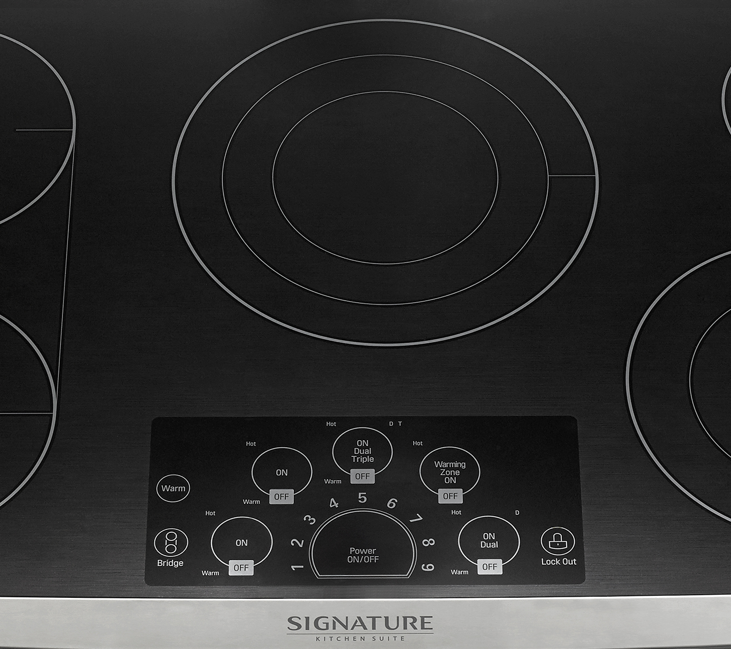 "36"" Electric Cooktop Hot Surface Indicator"