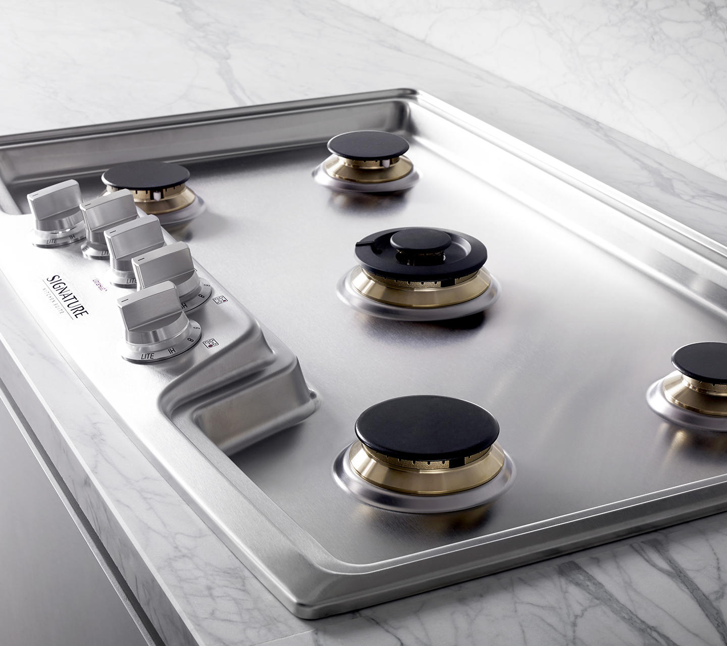 """36"""" Gas Cooktop with Solid Brass Burners"""