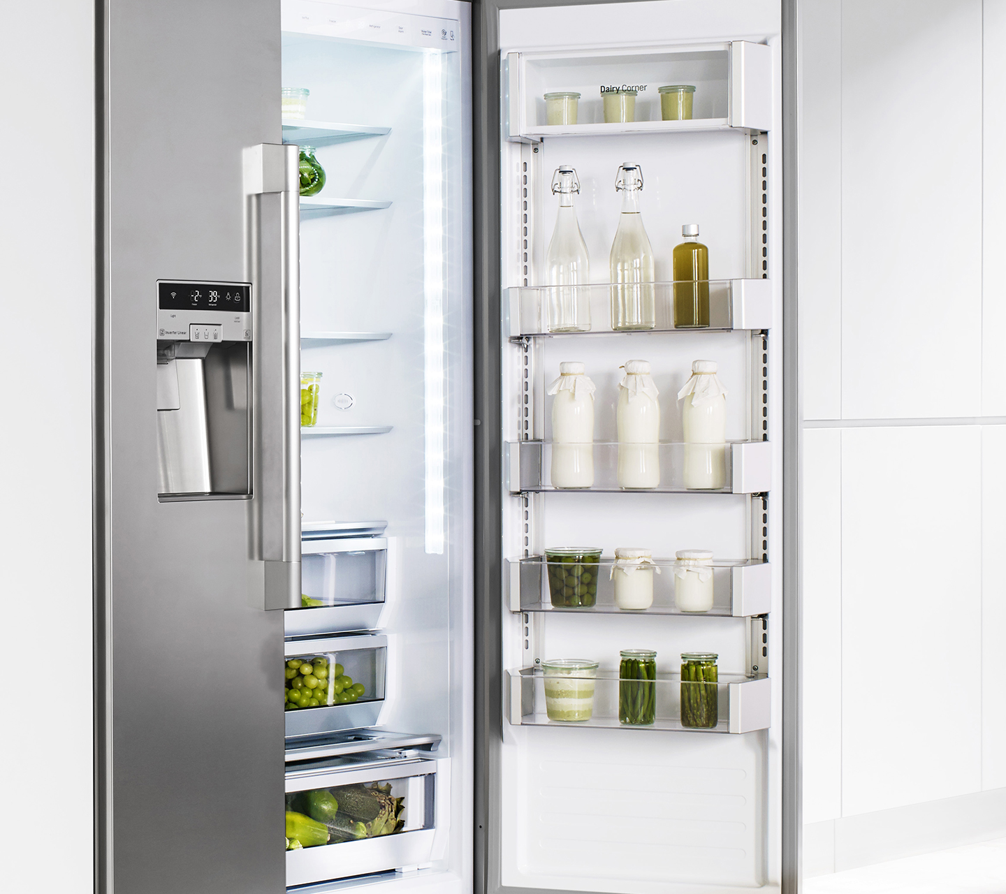 "42"" Built-in Refrigerator with Cantilevered Shelves"