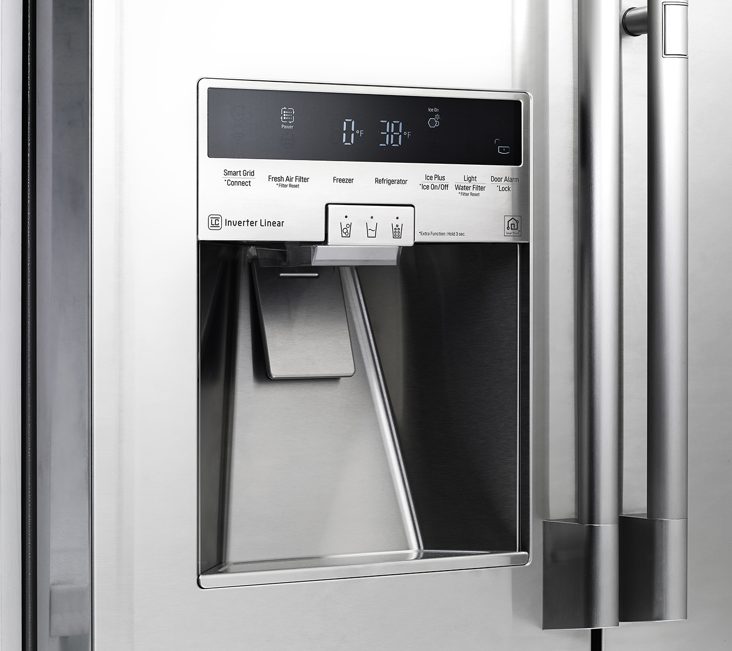 "42"" Built-in Refrigerator Side-by-Side with Stainless Touch Control"