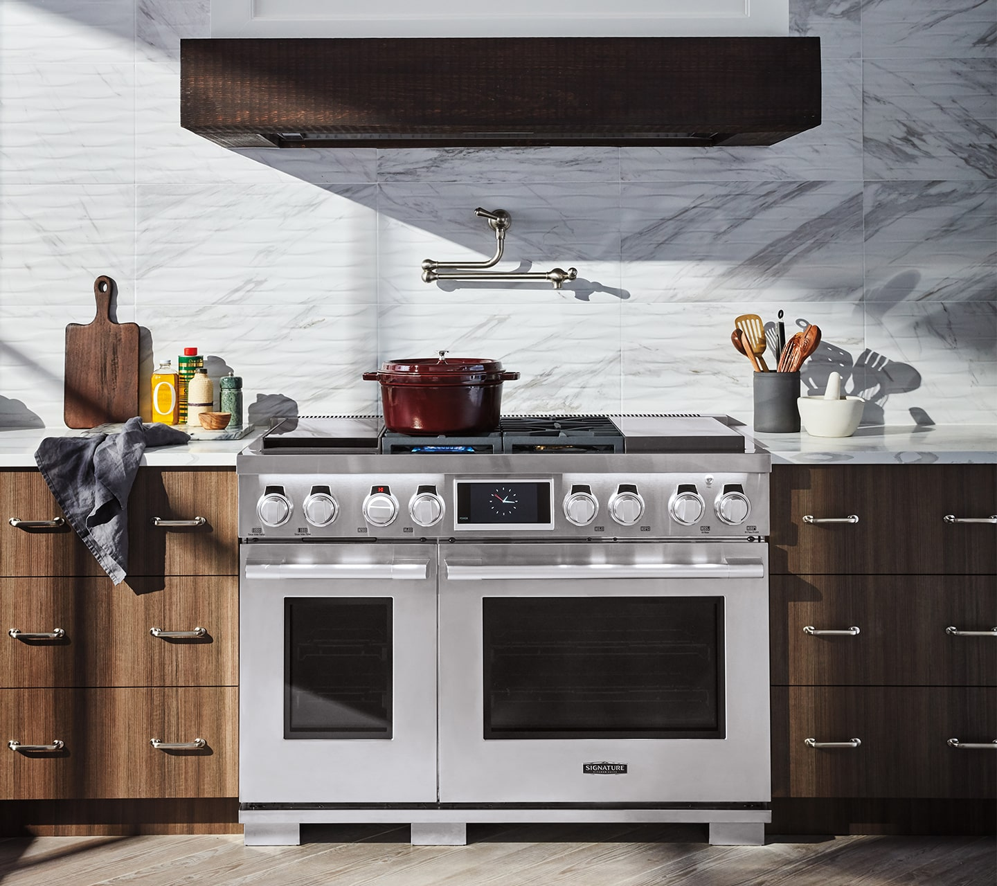 "48"" Dual-Fuel Pro Range with sous-vide built-in from Signature Kitchen Suite"
