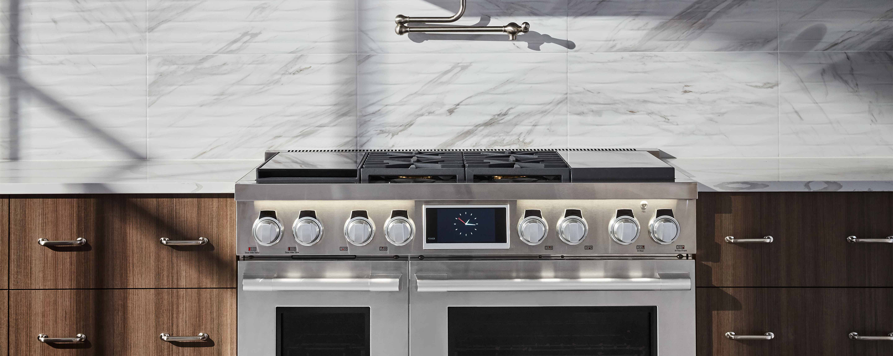 "48"" Pro Range: Sous Vide, Griddle, Gas & Induction 