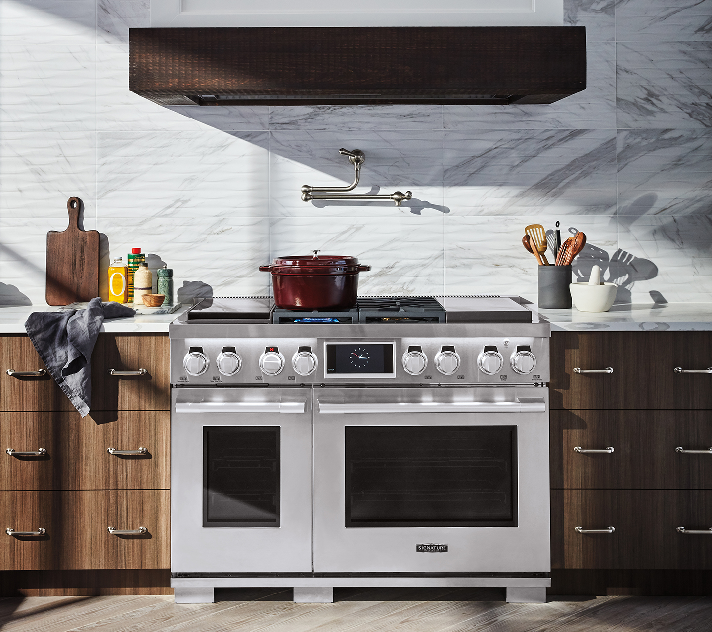 "Kitchen Suite: 48"" Dual-Fuel Pro Range With Sous Vide"
