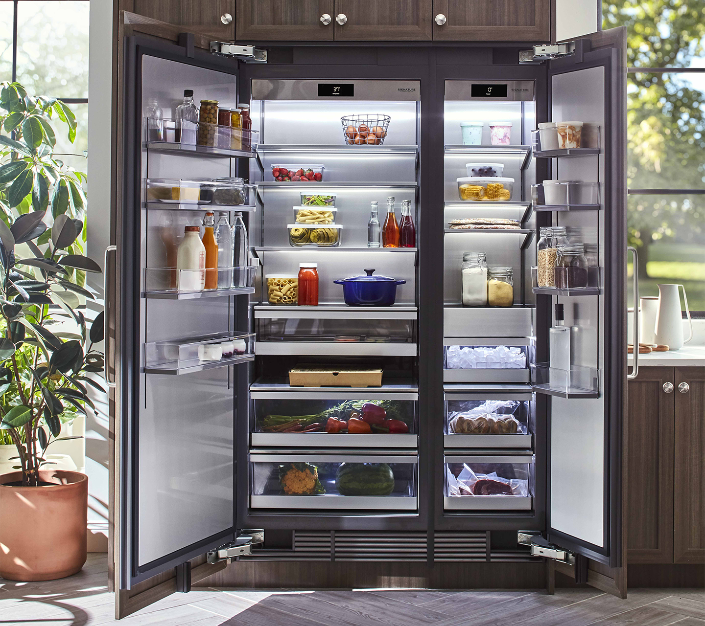 Built In Panel Ready Refrigerator & Freezer Column Options from Signature Kitchen Suite