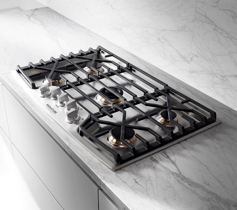 Kitchen Suites Gas Modern kitchen appliances signature kitchen suite gas cooktop with cast iron grates from signature kitchen suite workwithnaturefo
