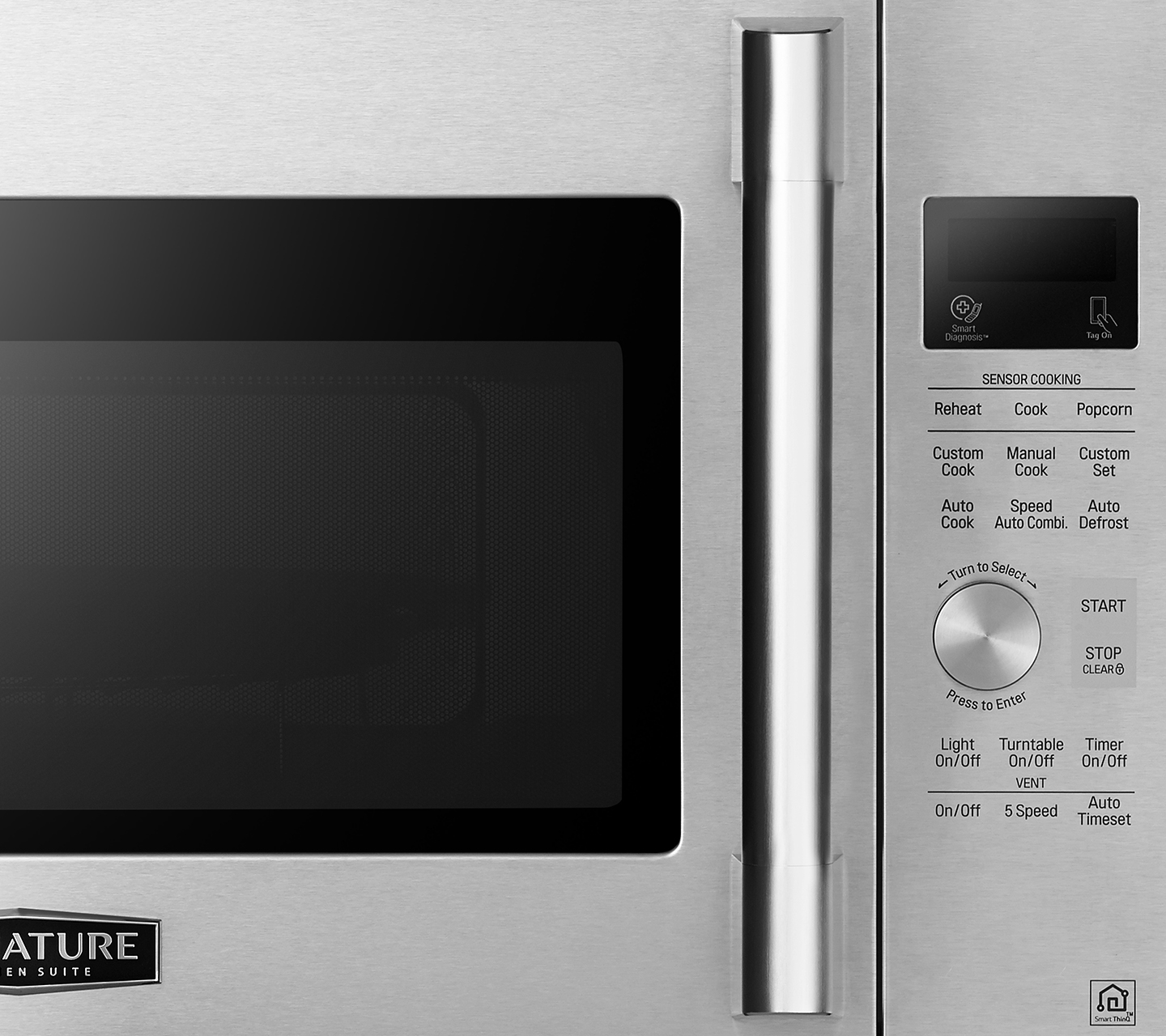 Stainless Touch Control Feature on OTR Microwave