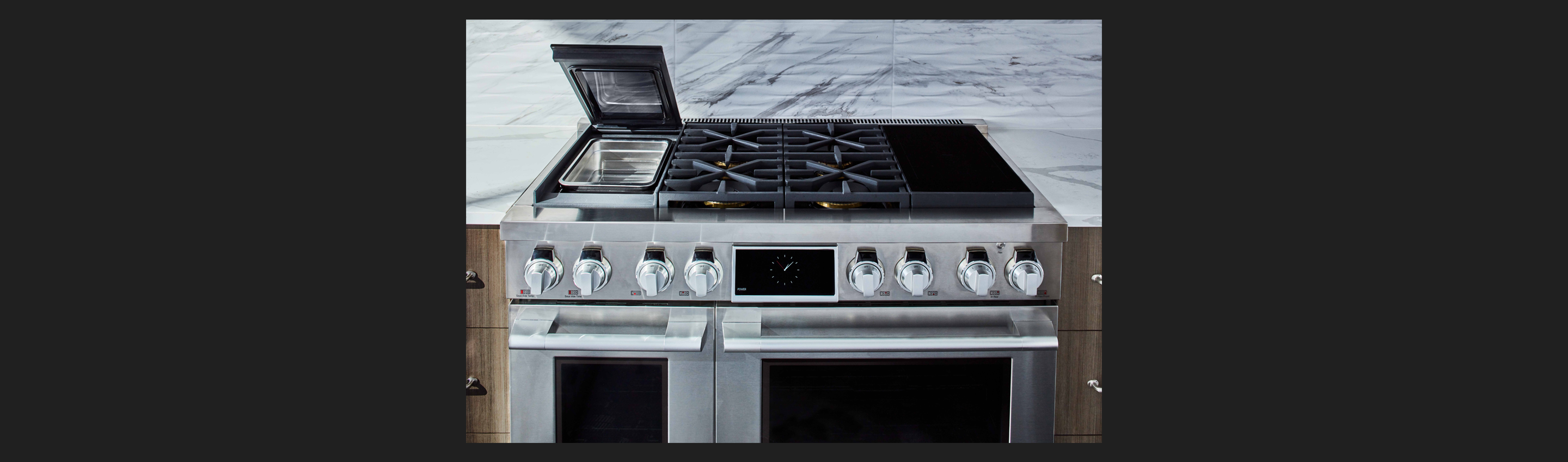 "48"" Range Dual Fuel, Built-in Sous Vide, Gas & Induction"