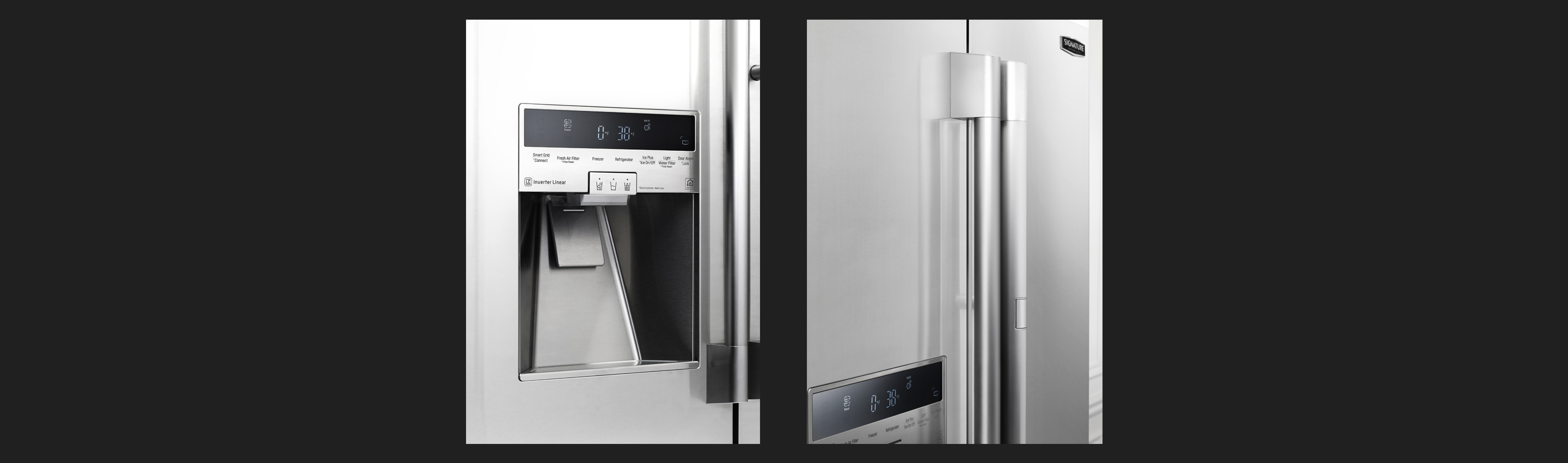 "36"" Counter-Depth French Door Refrigerator Stainless Touch Control"