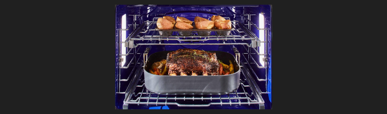"48"" Dual-Fuel Pro Range | 30-inch Pro-Heat™ Convection Oven"