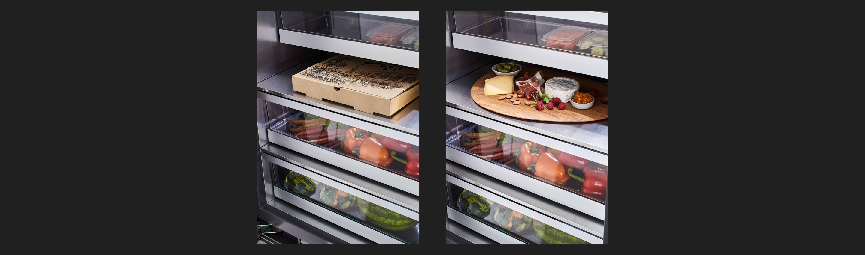 24-inch Integrated Column Refrigerator Snack Drawer