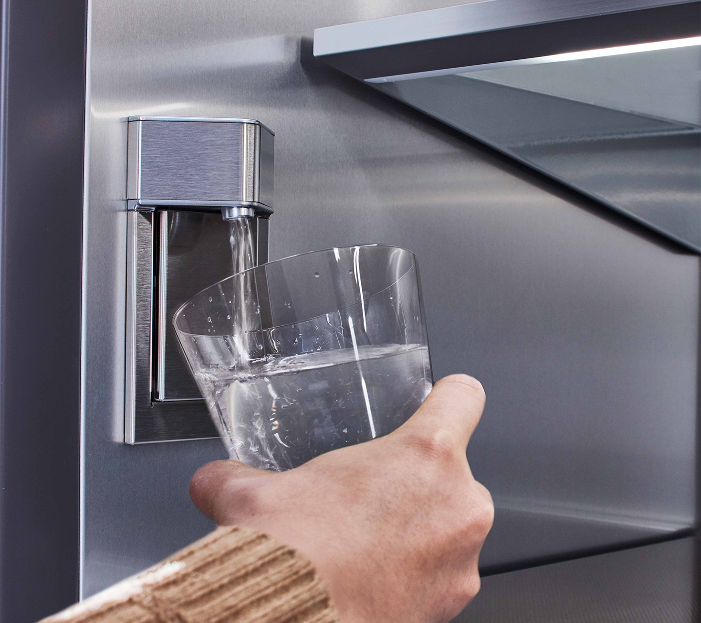 "Internal Water Dispenser in 24"" Column Refrigerator"