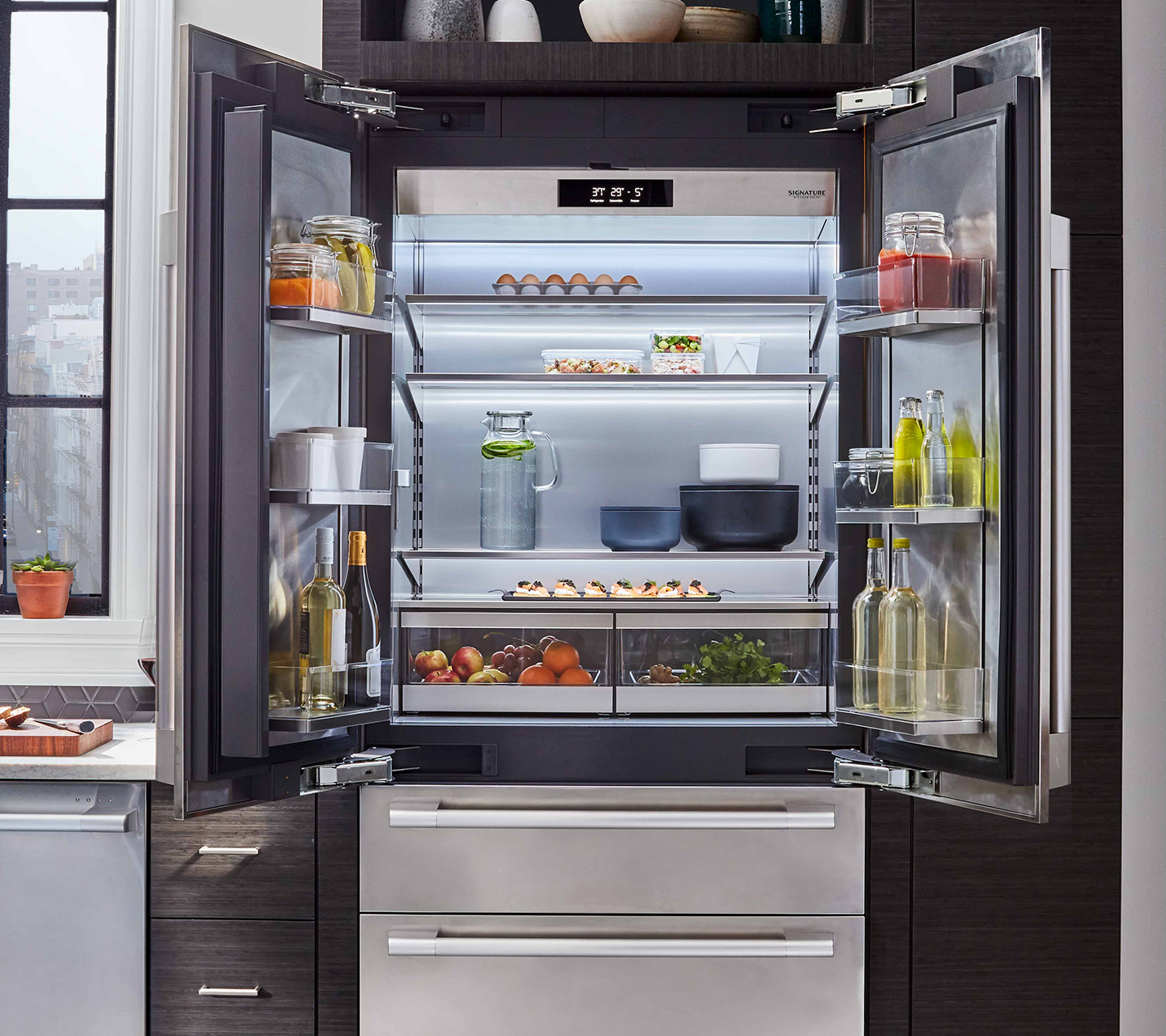 "36"" Built-in French Refrigerator 