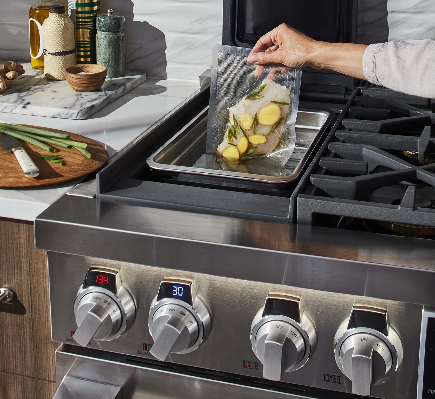 Signature Kitchen Suite Dual Fuel Pro Range with Sous Vide