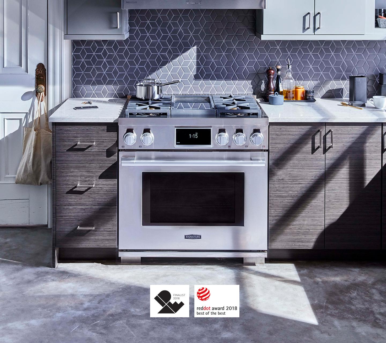 Cuisinière professionnelle biénergie primée de 91cm (36po) | Signature KitchenSuite