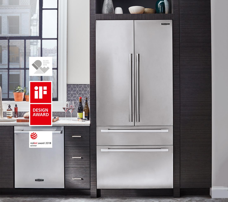 Réfrigérateur à double porte encastré primé de 91cm (36po) | Signature Kitchen Suite