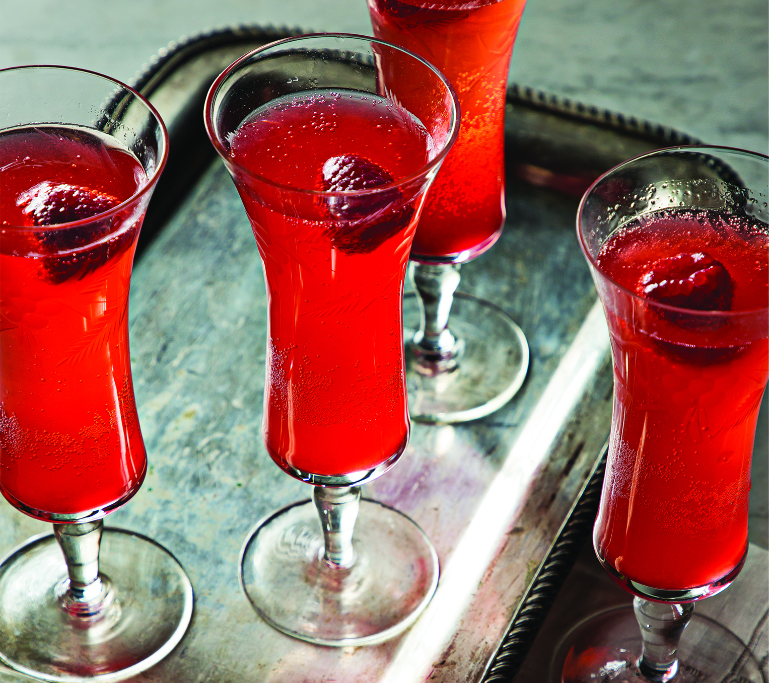 Raspberry Champagne Cocktail by Cuisine Solutions