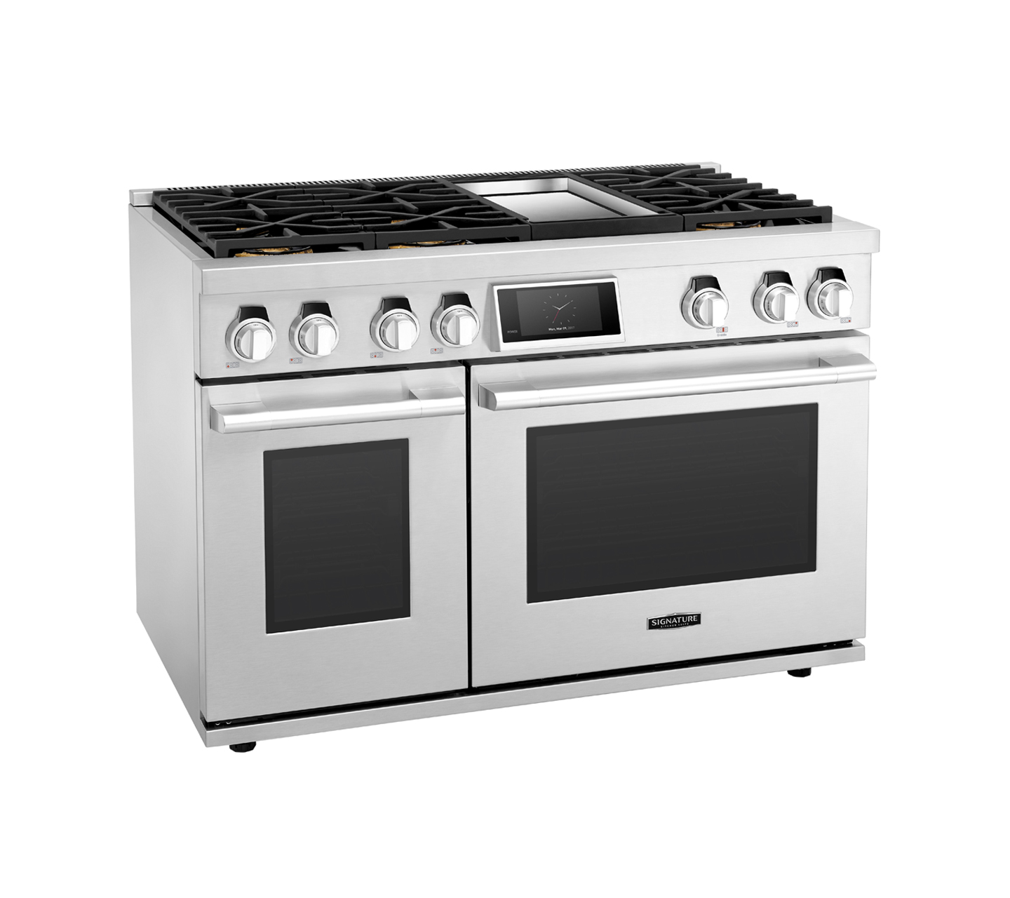 "48"" Gas Range with 6 Burners and Griddle 