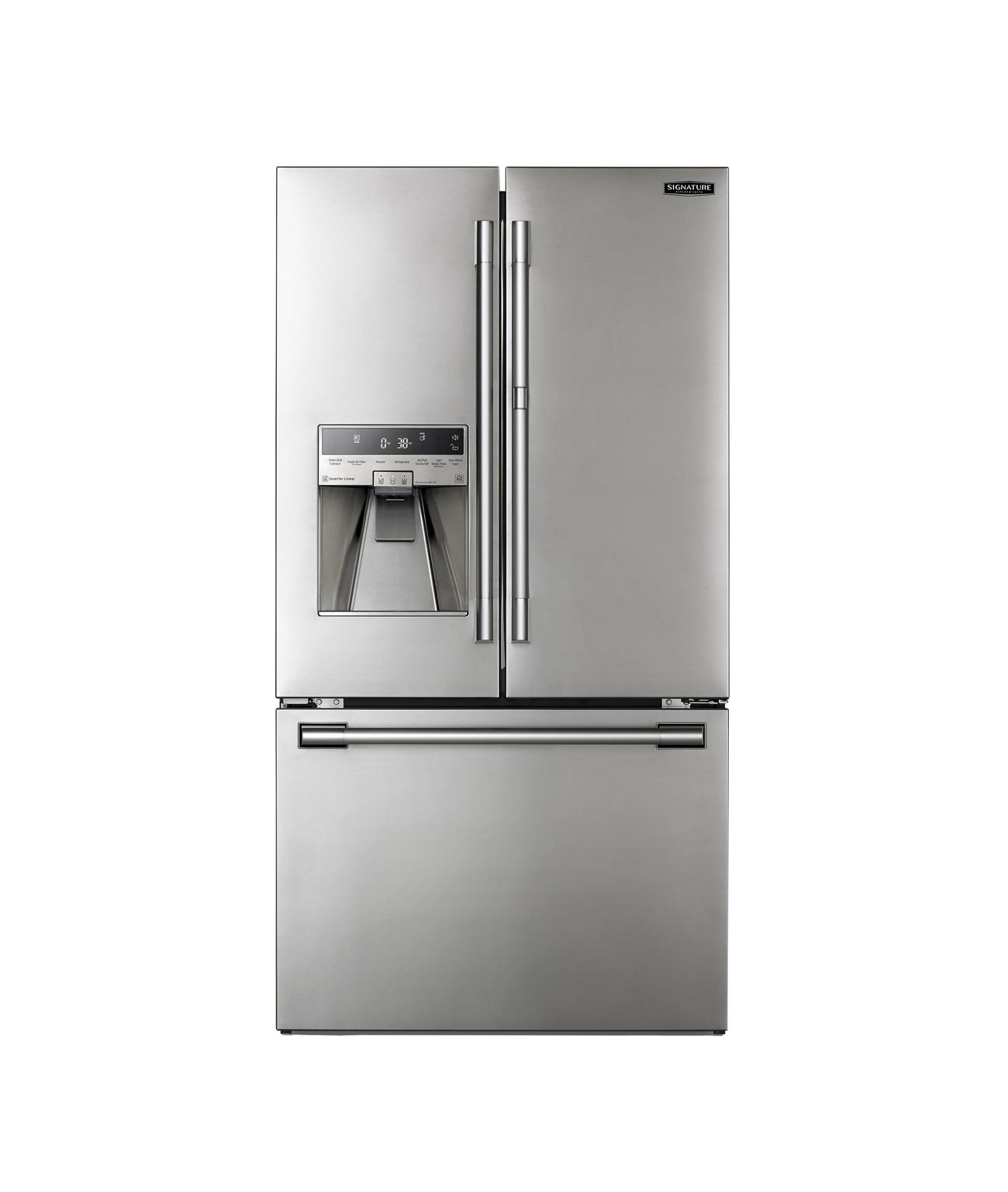 Réfrigérateur à double porte à profondeur de comptoir de 91cm