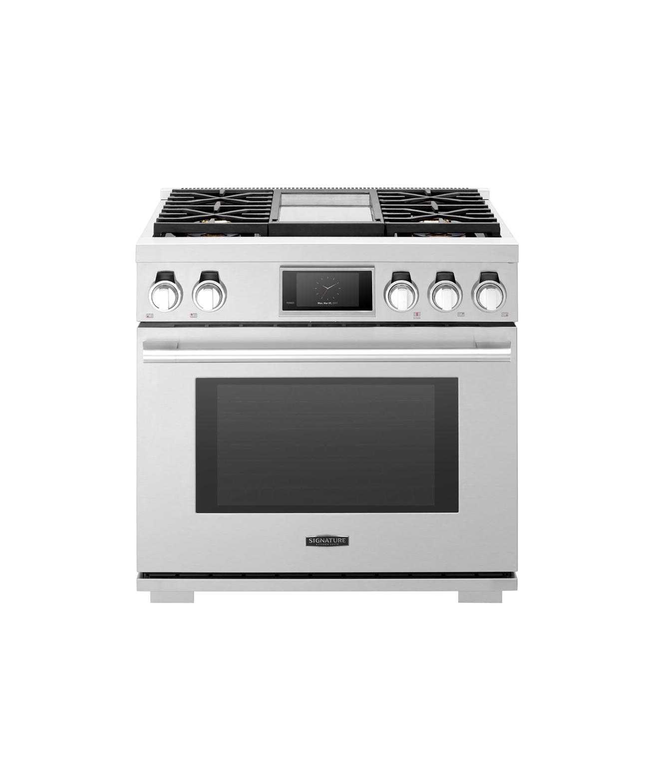 Cuisinière professionnelle au gaz de 91cm dotée de 4brûleurs et d'une plaque de cuisson