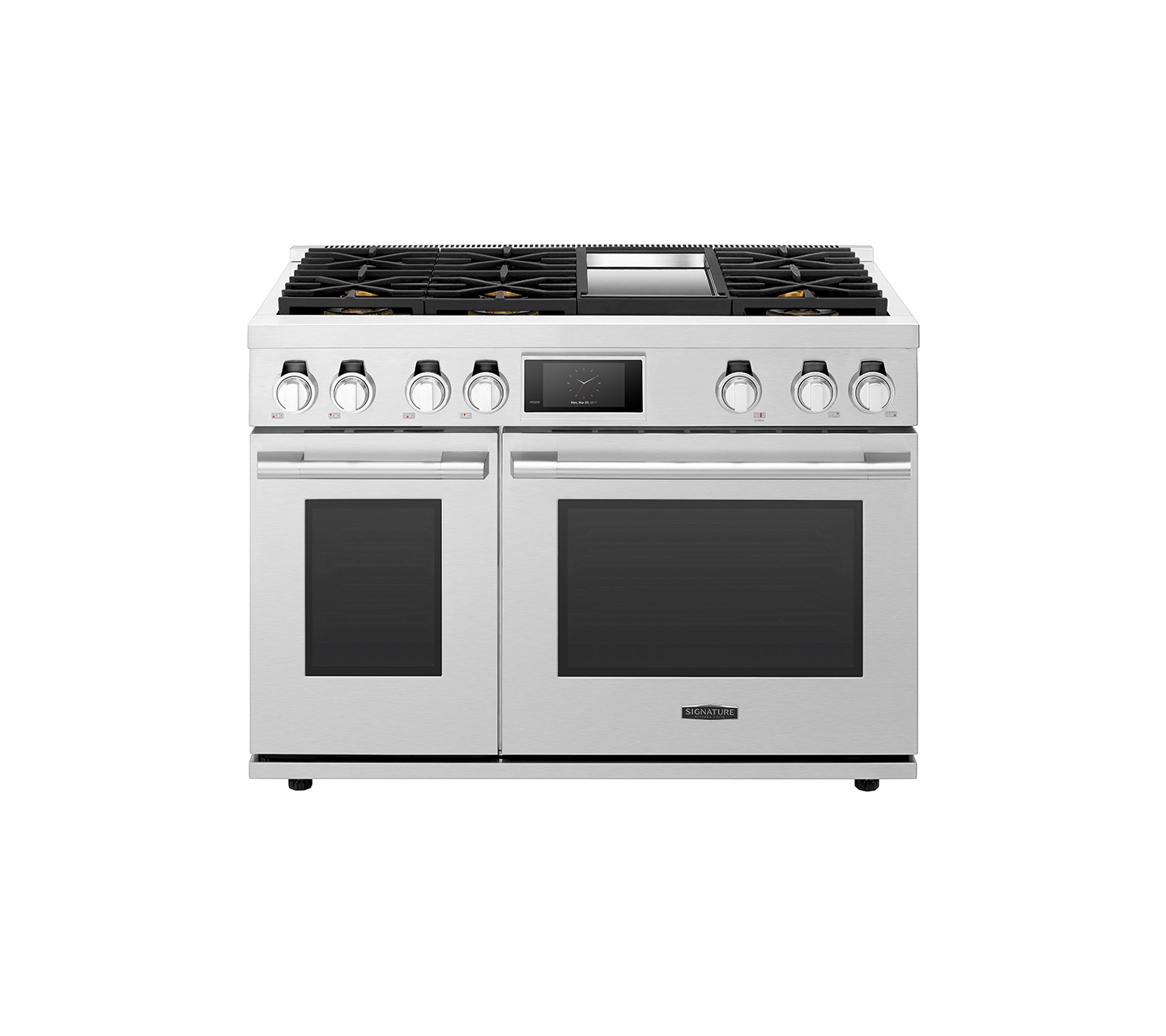 48-inch Dual-Fuel Pro Range with Six Burners and Griddle