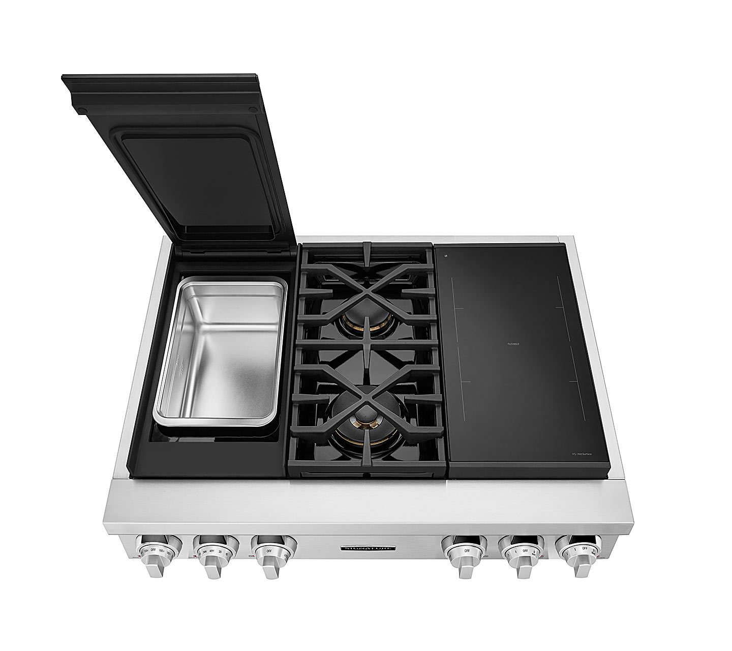 36-inch Dual-Fuel Pro Rangetop with Sous Vide and Induction