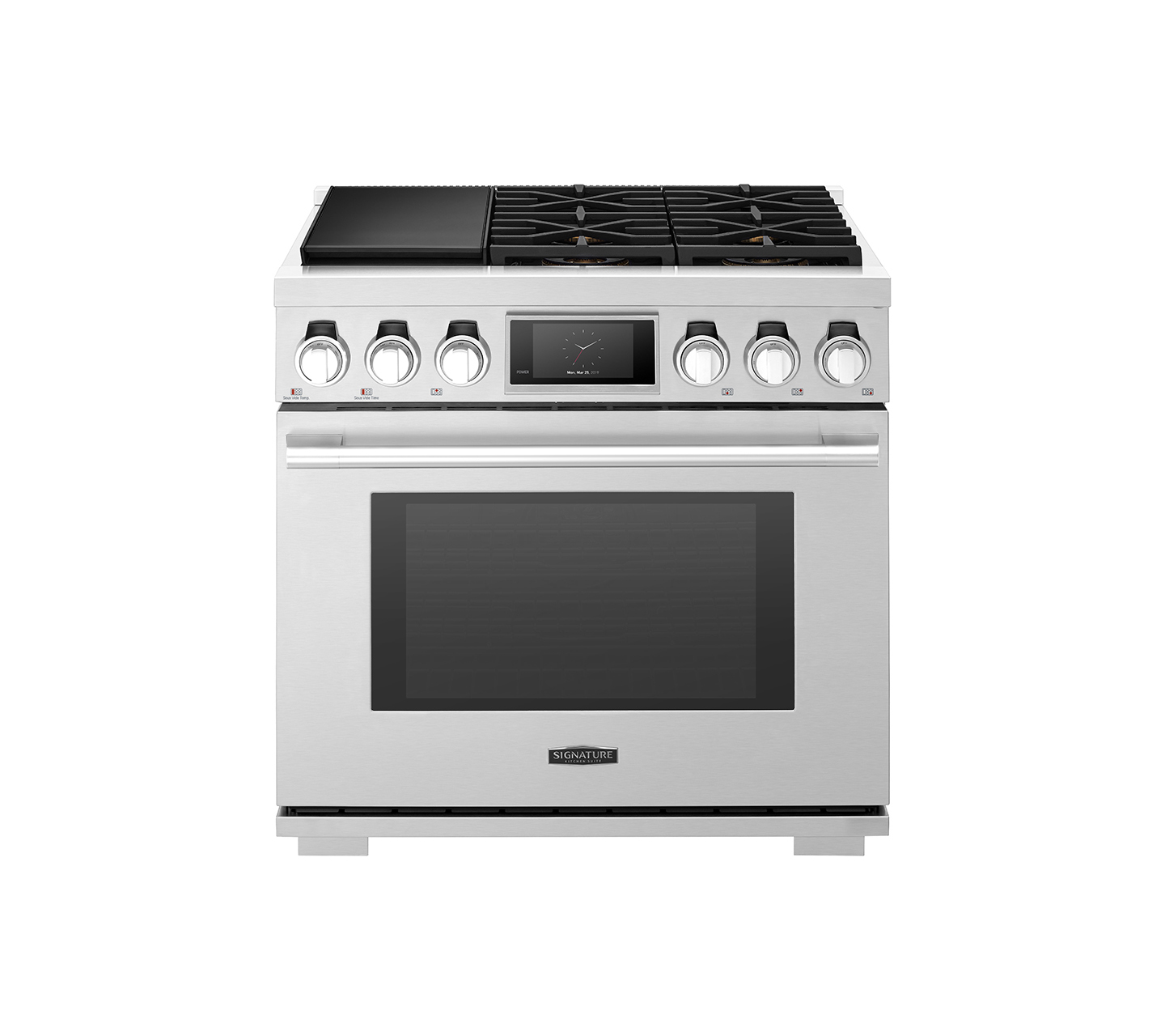 SKSDR360SS | 36-inch Dual-Fuel Pro Range with Sous Vide