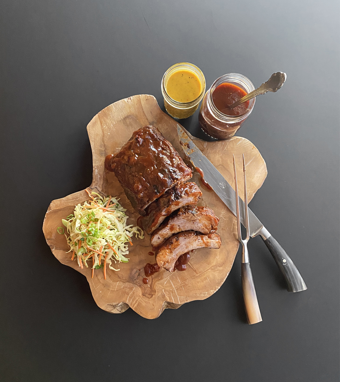 Baby Back Ribs and Picnic Coleslaw | Signature Kitchen Suite