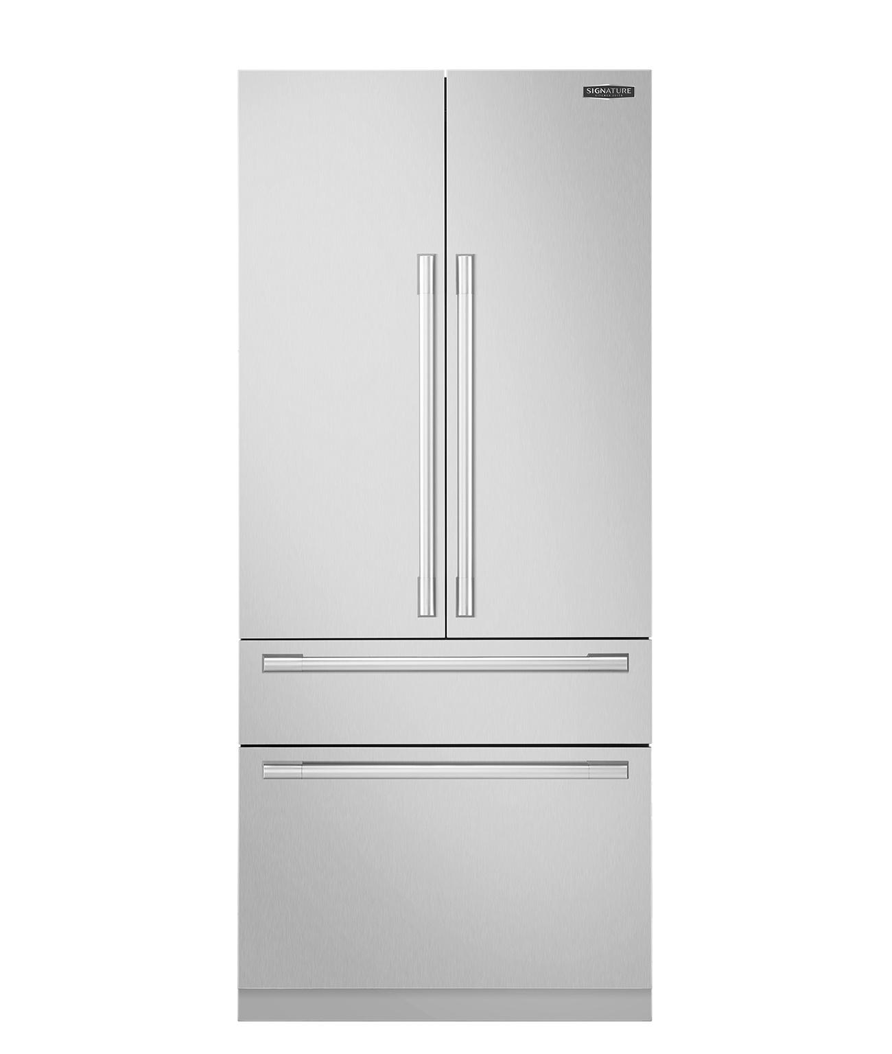 36 inch built in french door refrigerator