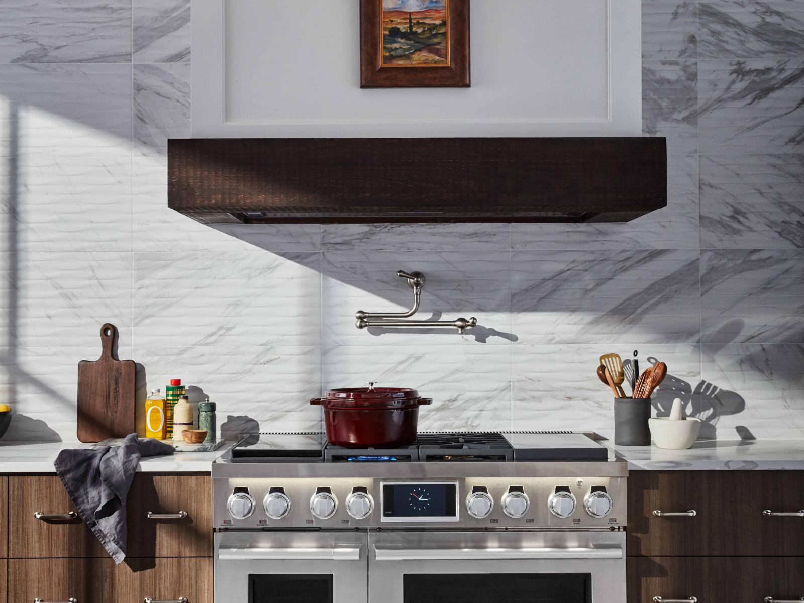 "48"" Dual-Fuel Pro Range with Sous Vide and Induction"