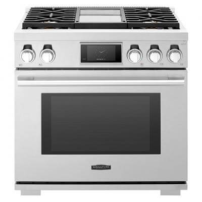 36-inch Dual-Fuel Pro Range with Steam-Combi Oven and Griddle