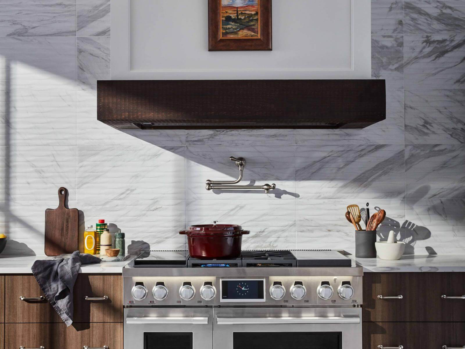 """48"""" Dual-Fuel Pro Range with Sous Vide, Gas and Induction"""