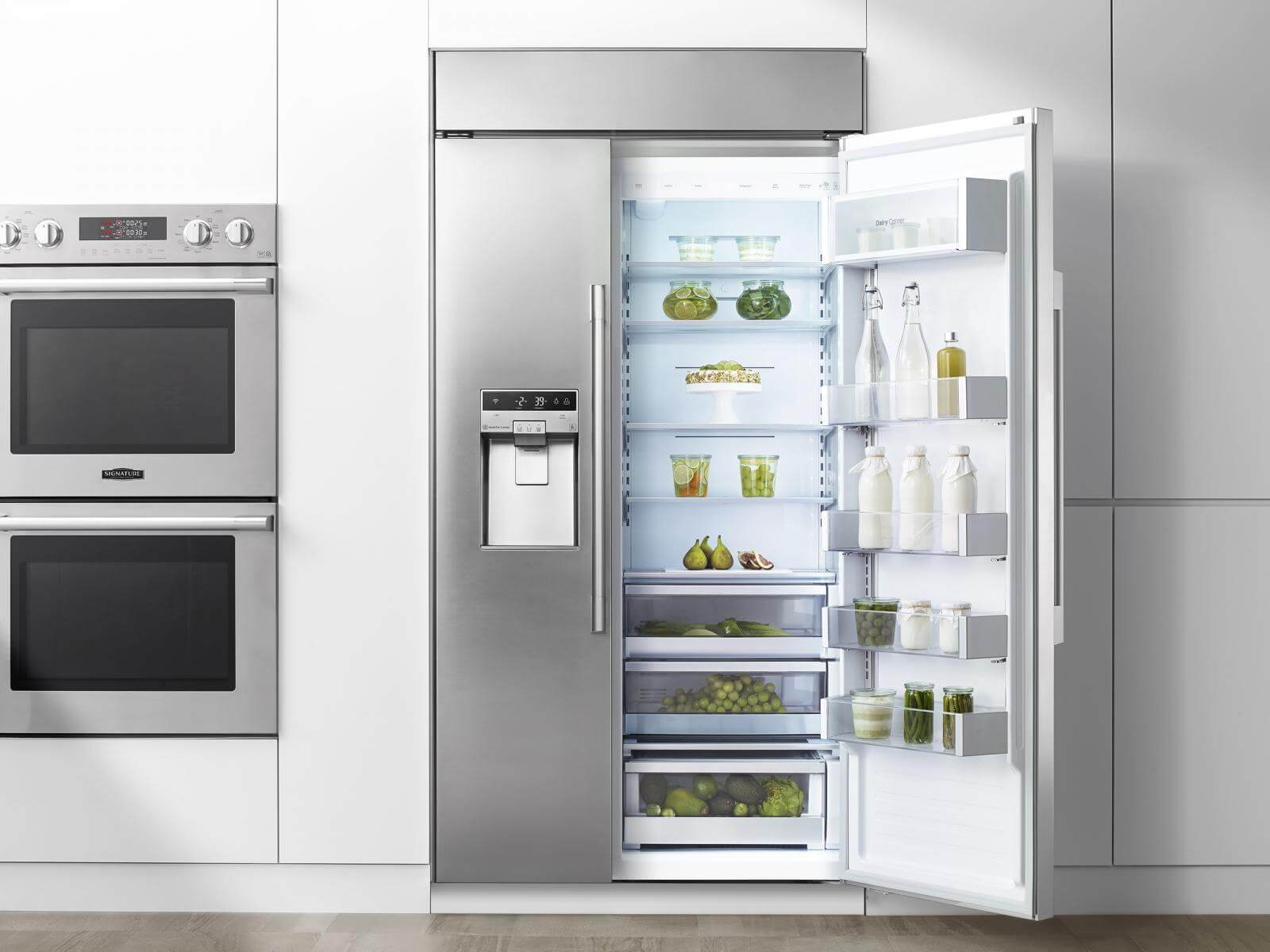 """42"""" Built-in Refrigerator Side-by-Side from Signature Kitchen Suite"""