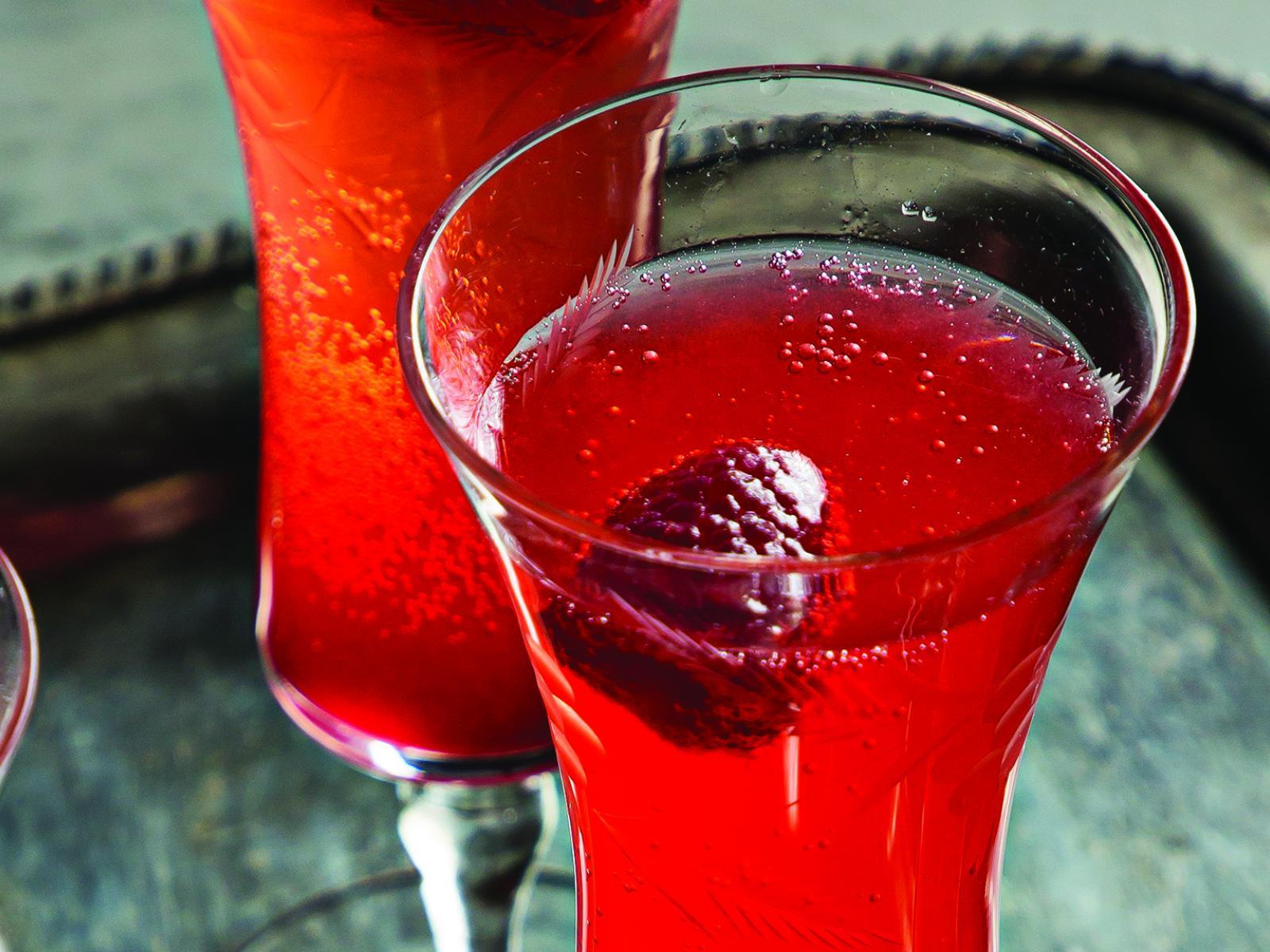 Cocktail au champagne et à la framboise par Cuisine Solutions