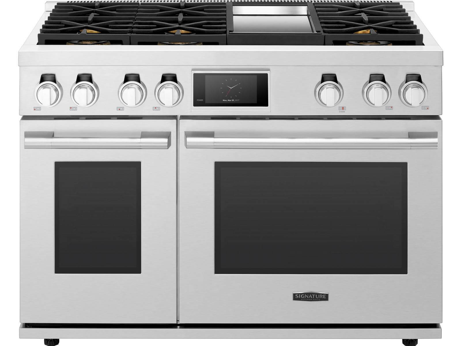 48-inch Dual-Fuel Pro Range with Griddle