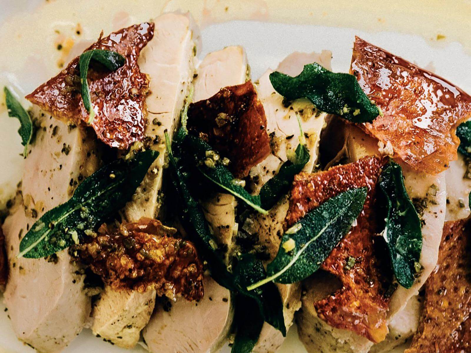 Turkey Breast with Sage Brown Butter