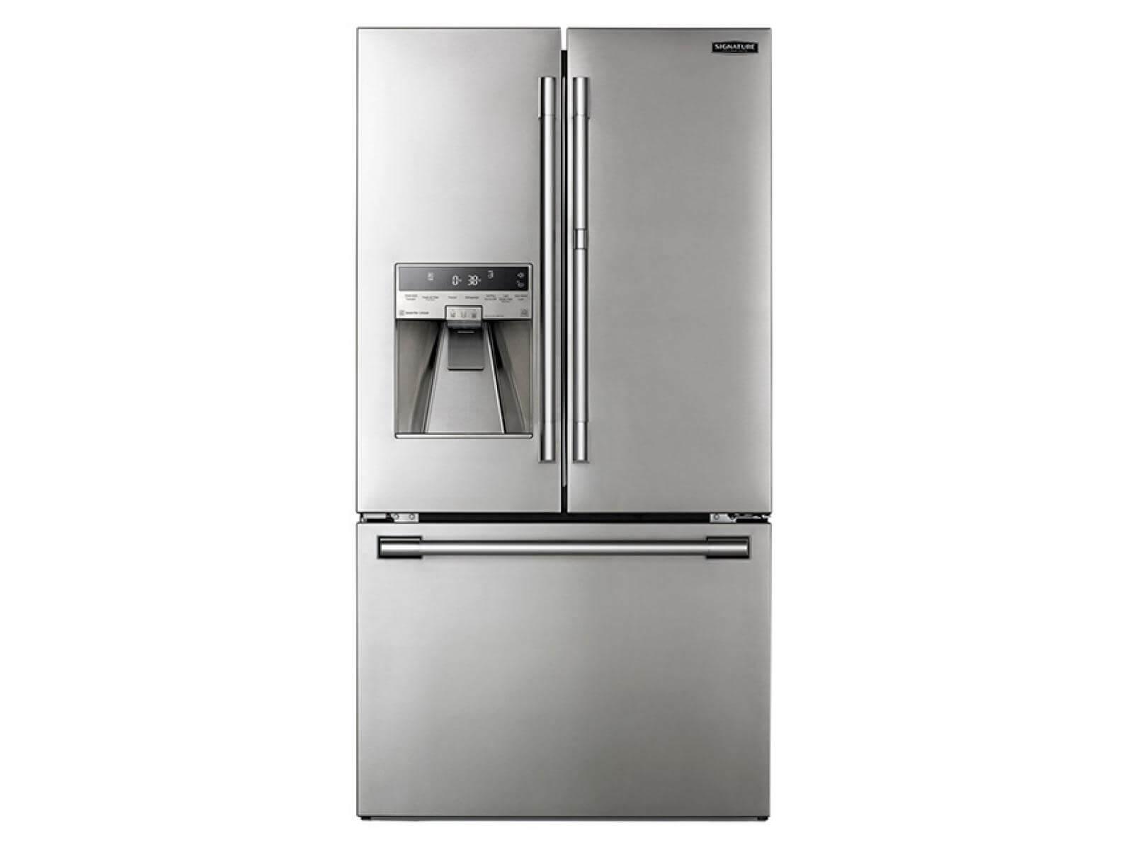 Réfrigérateur à double porte à profondeur de comptoir de 36 po