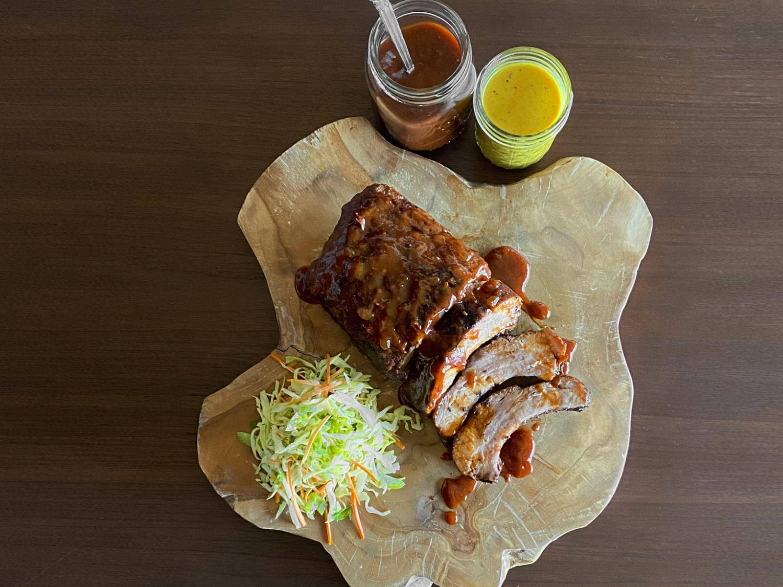 """""""Oh Baby"""" Baby Back Ribs with Picnic Coleslaw   Signature Kitchen Suite"""